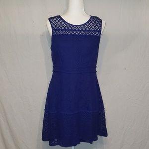 Beautiful Royal Blue Lace Dress